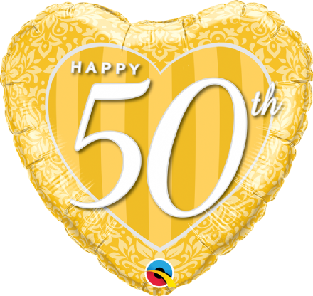 50th Anniversary Foil Helium Balloon